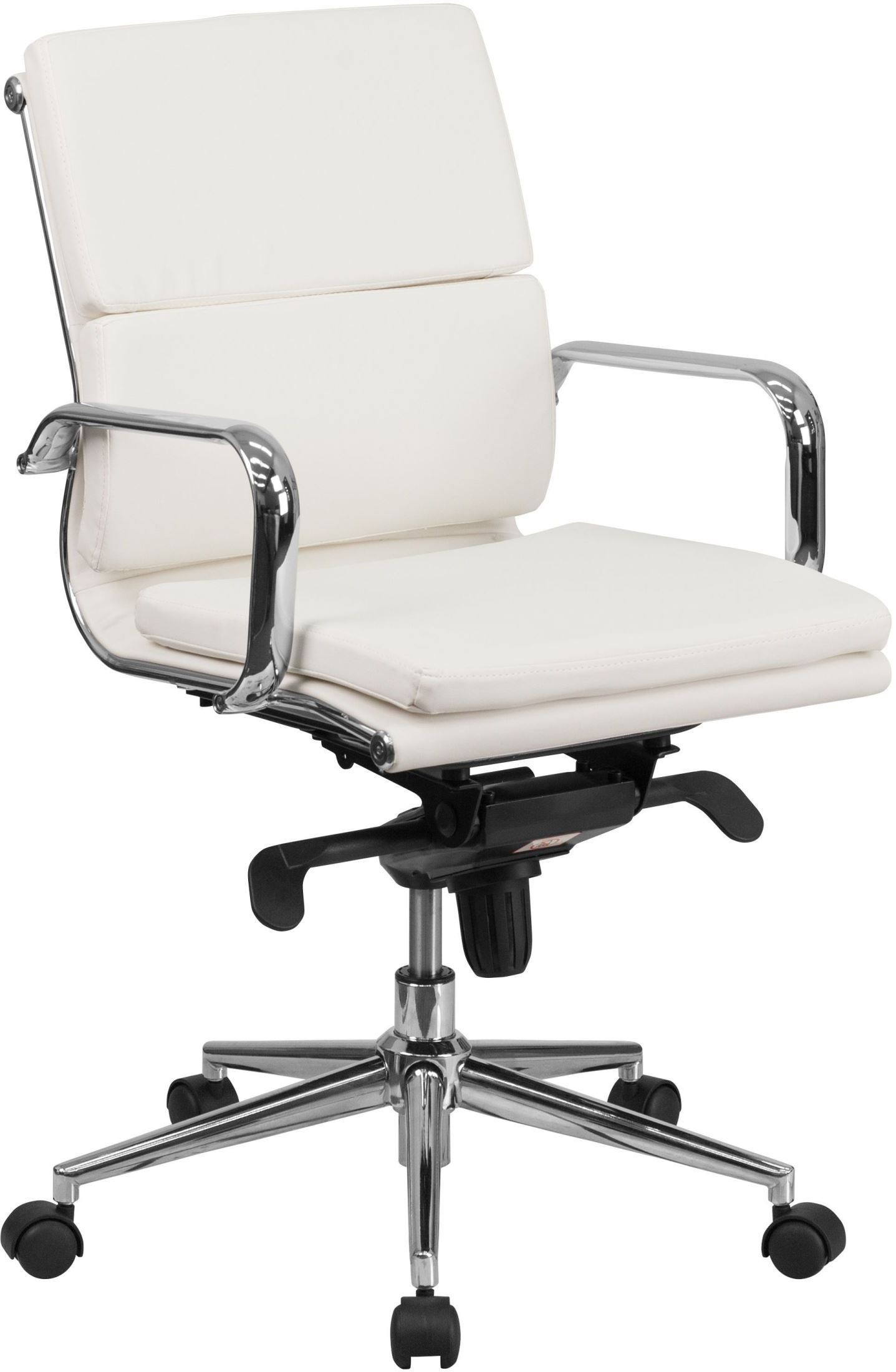 White Swivel Desk Chair White Executive Swivel Office Chair With Synchro Tilt