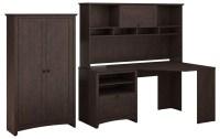 Buena Vista Madison Cherry Corner Desk & Hutch With Tall ...