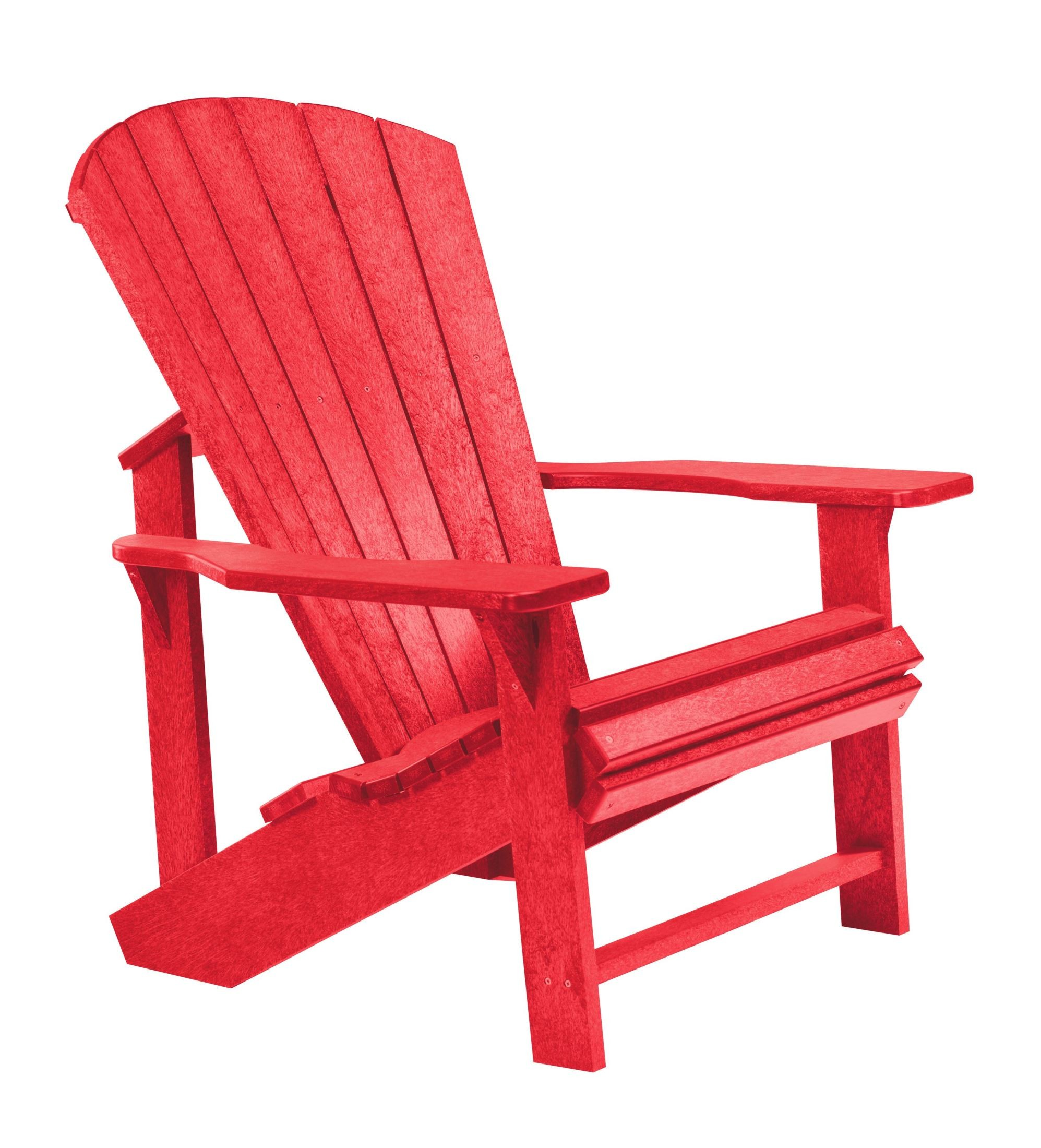 Generations Red Adirondack Chair from CR Plastic C0101