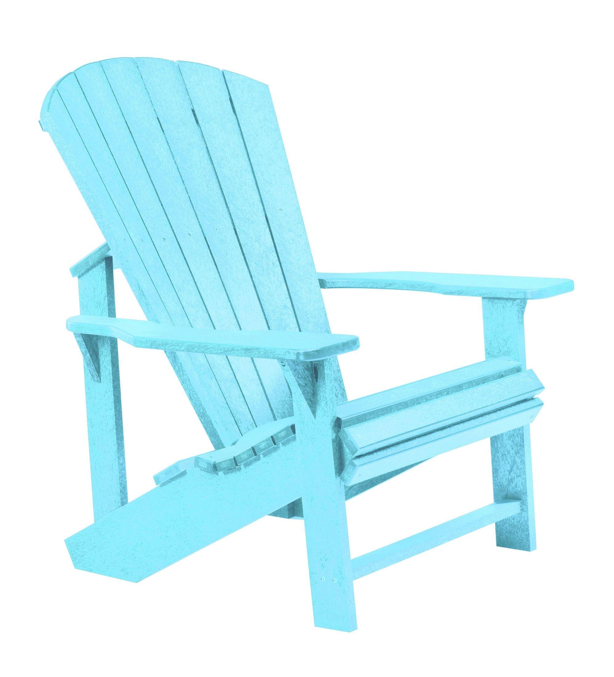 aqua adirondack chairs bar height patio generations chair from cr plastic c01 11
