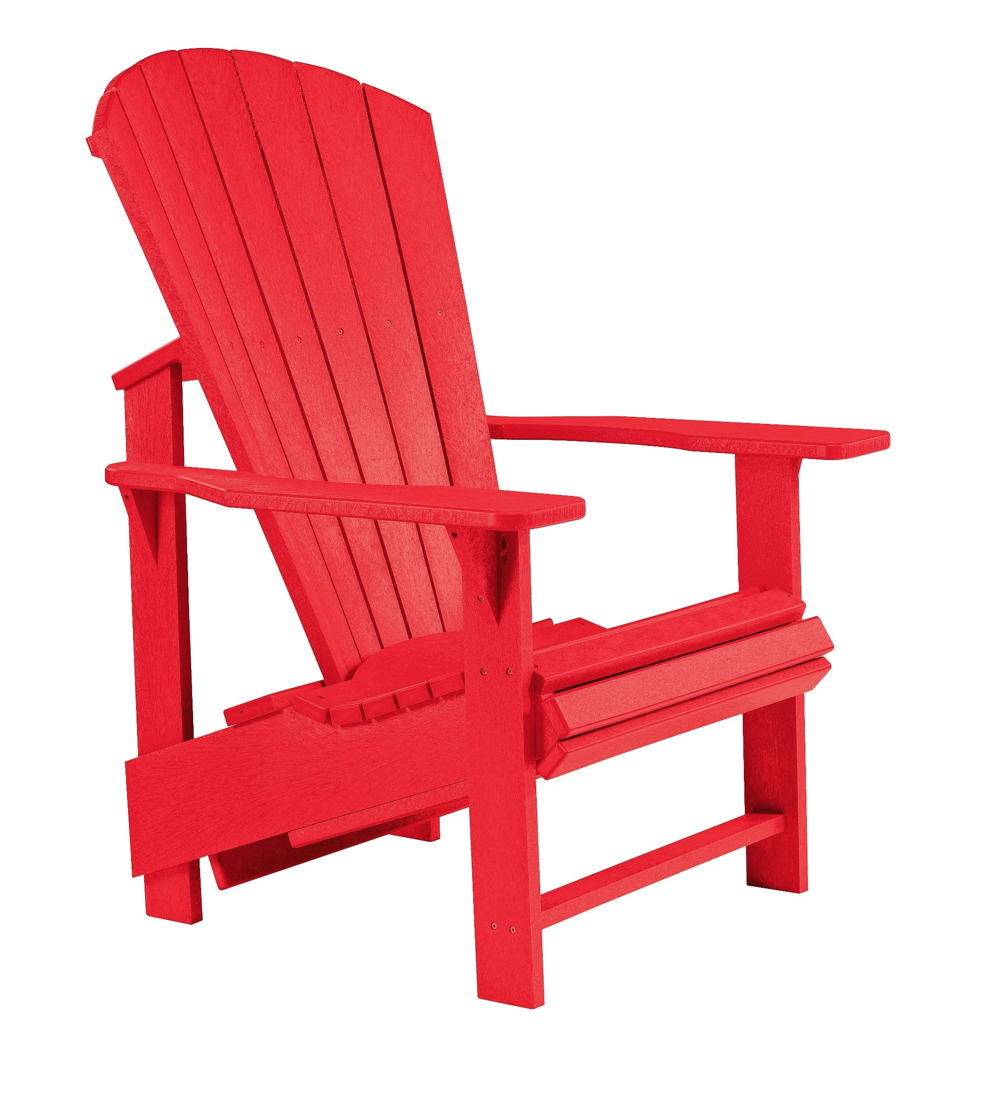 Red Adirondack Chairs Generations Red Upright Adirondack Chair From Cr Plastic