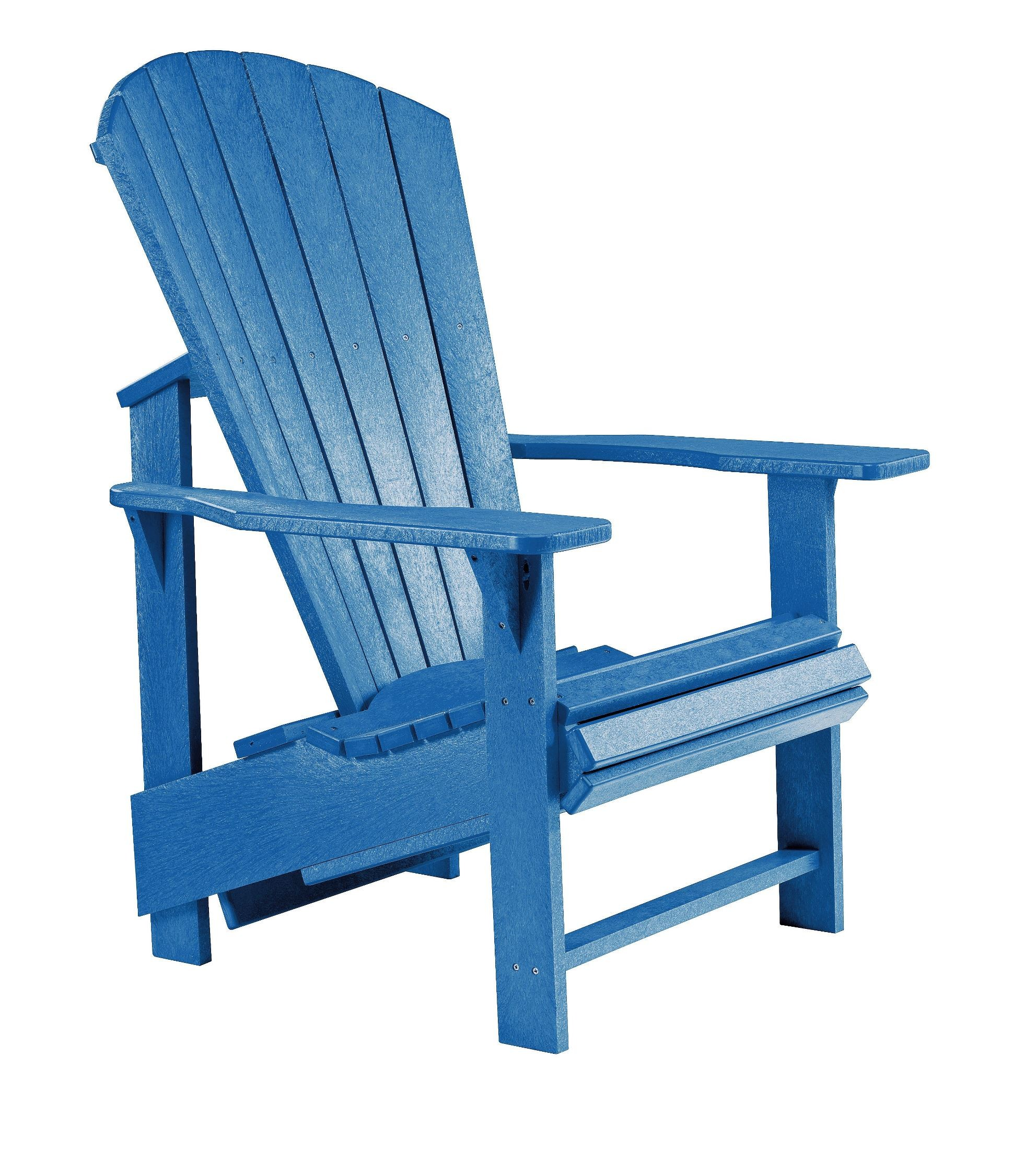 Generations Blue Upright Adirondack Chair from CR Plastic