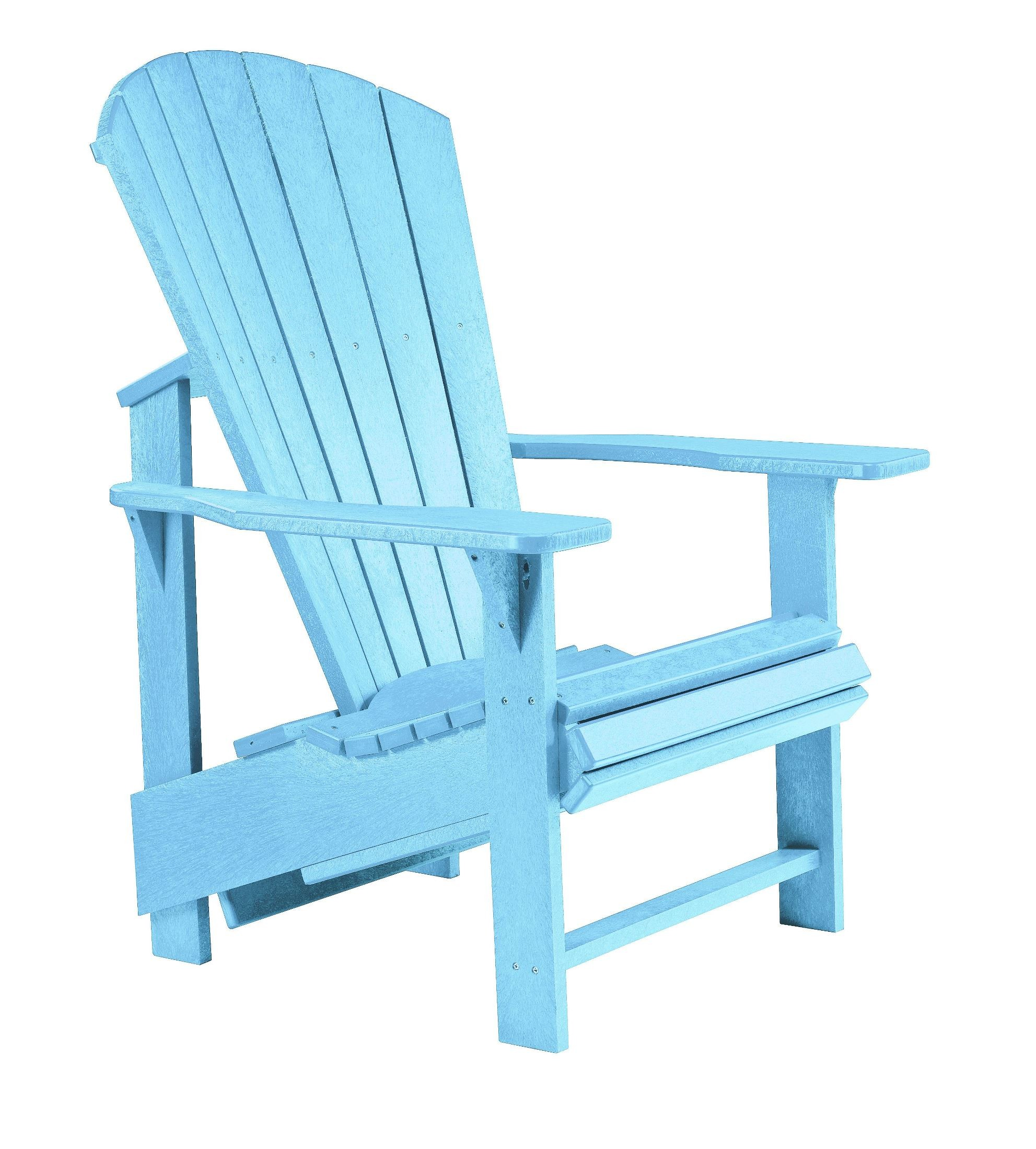 Generations Aqua Upright Adirondack Chair from CR Plastic