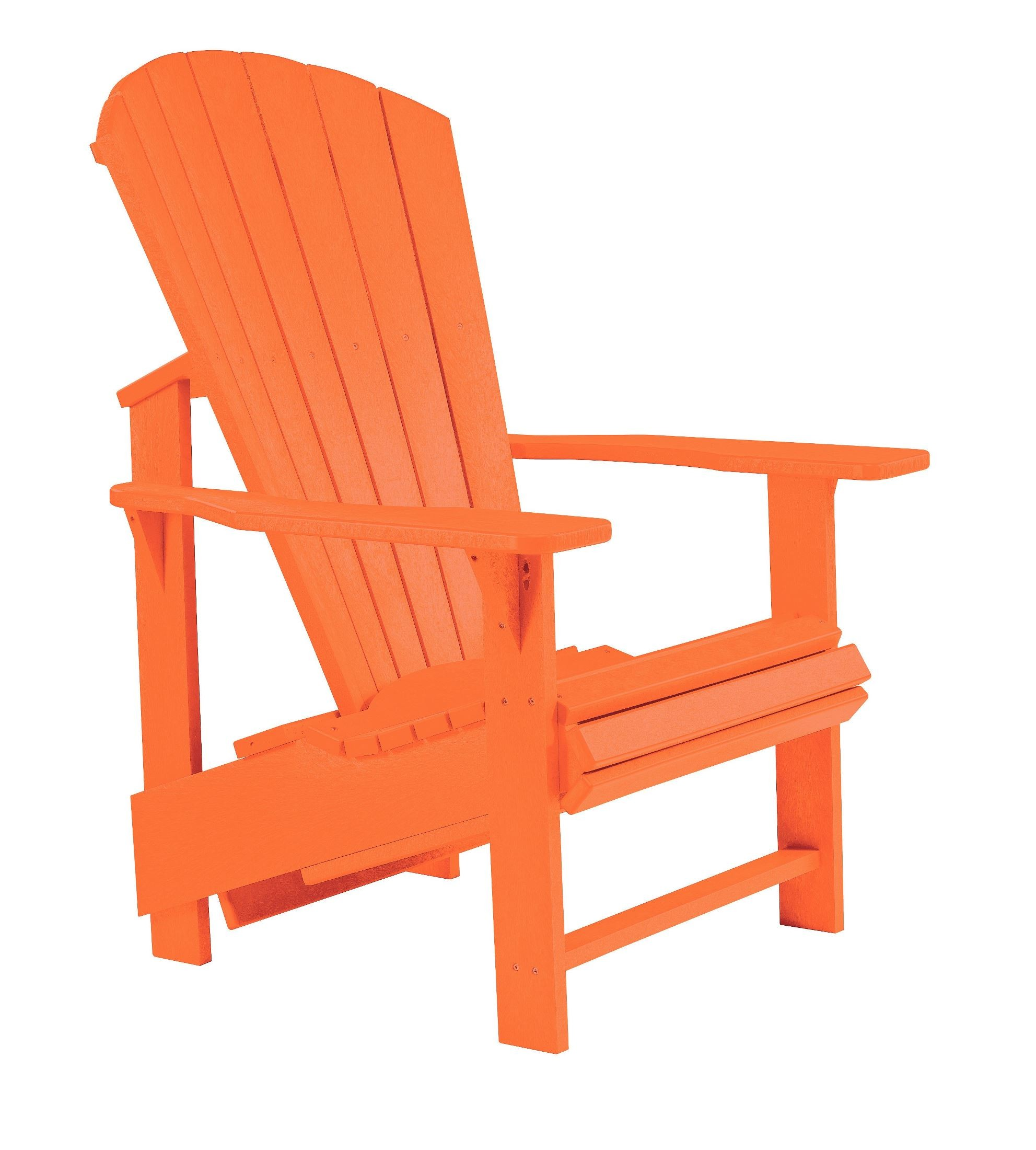 upright recliner chairs pottery barn kids beach chair generations orange adirondack from cr