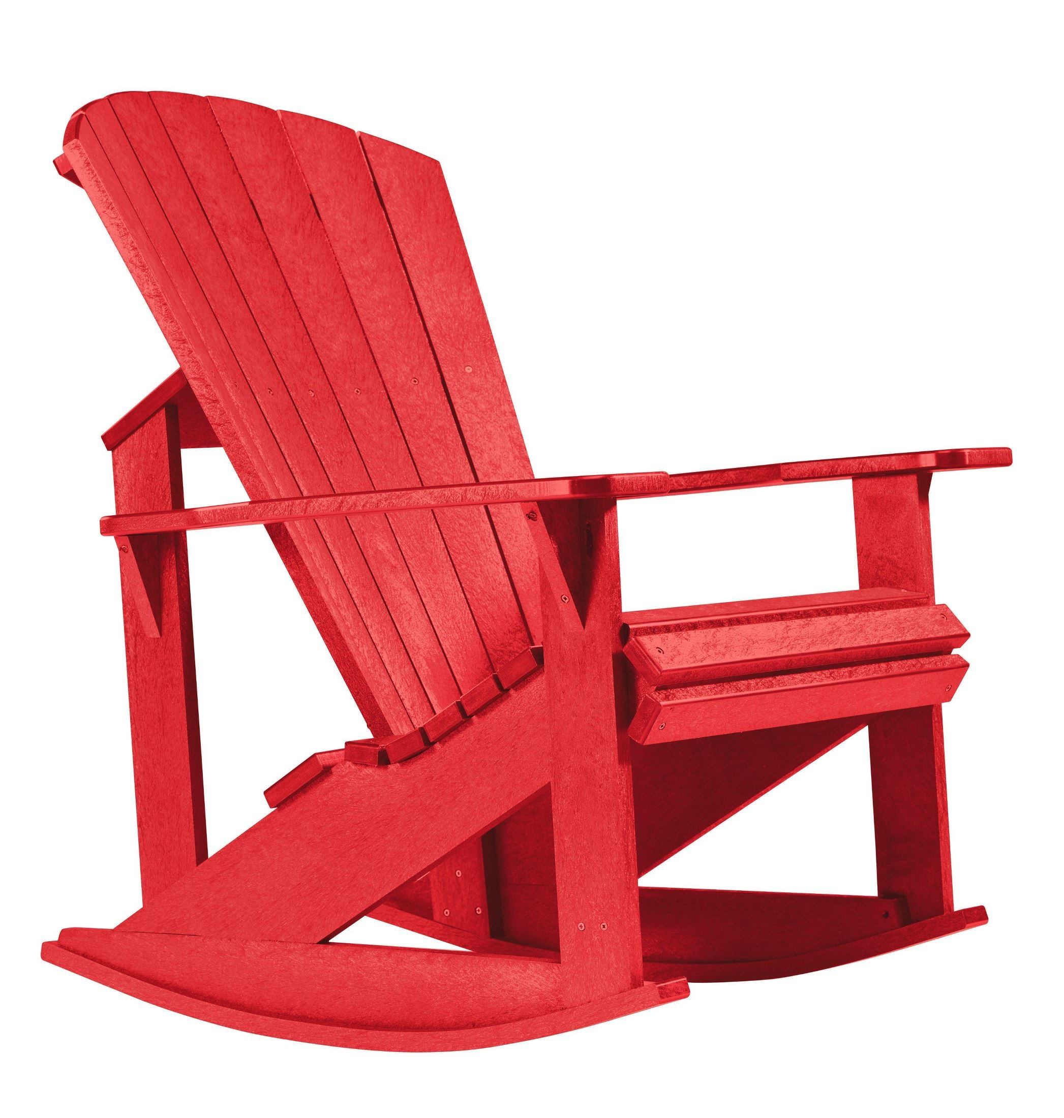 Generations Red Adirondack Rocking Chair from CR Plastic