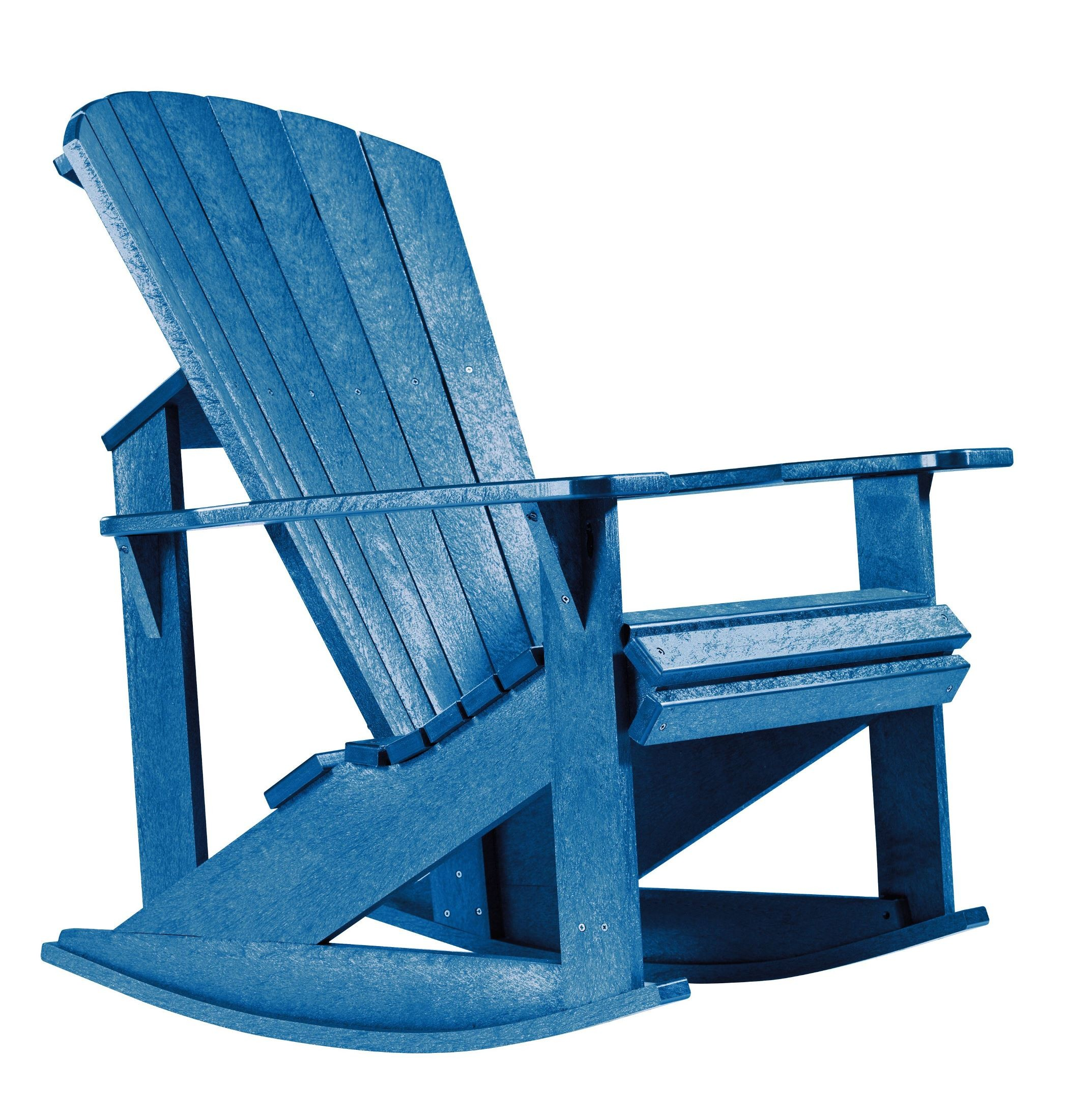 plastic rocking chair gym ball australia generations blue adirondack from cr