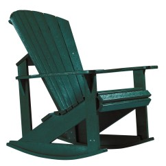 Green Rocking Chair Swimming Pool Lounge Chairs Generations Adirondack From Cr Plastic