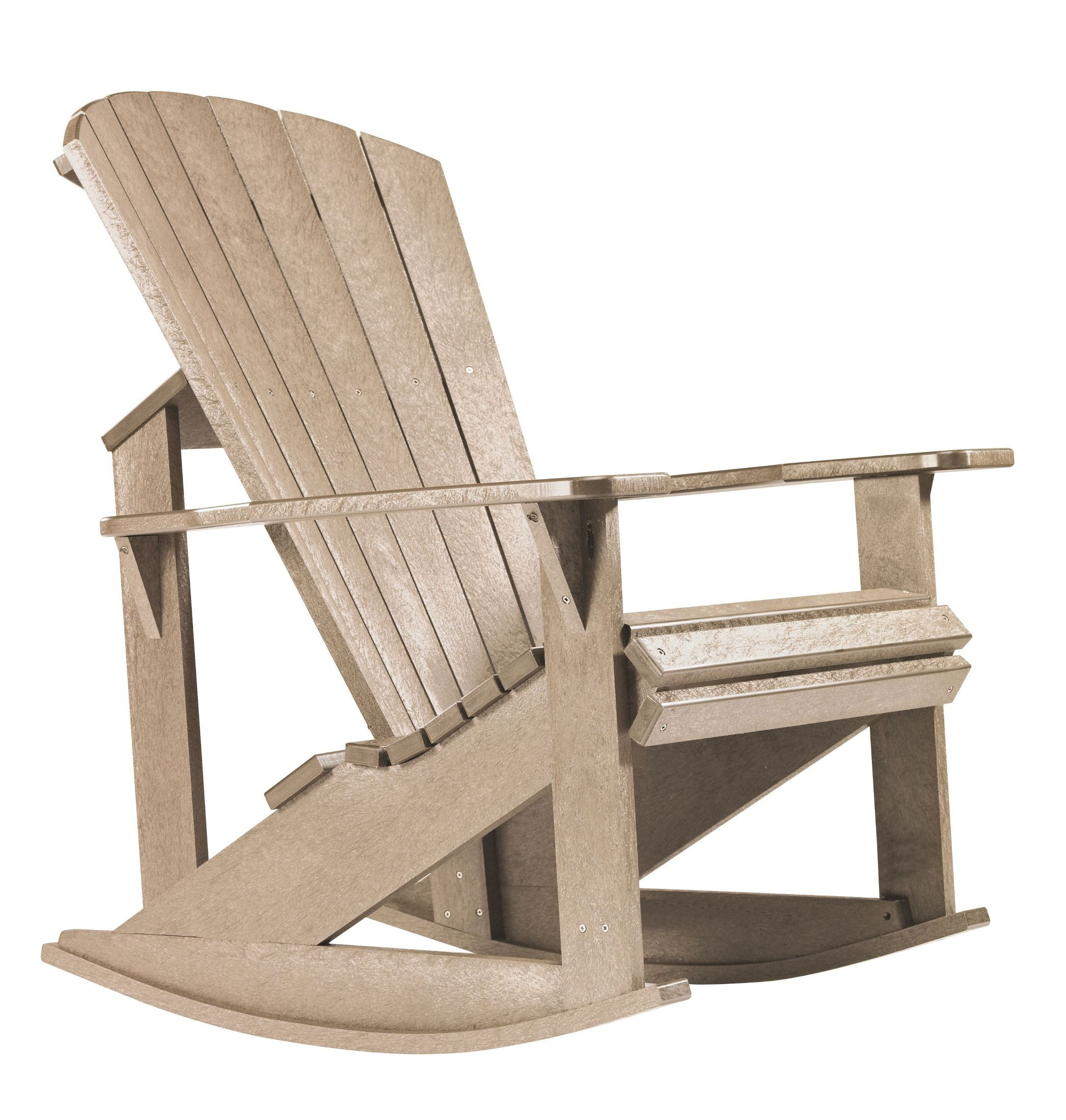 Generations Beige Adirondack Rocking Chair from CR Plastic