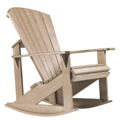 Coleman Rocking Chair Recliner Chairs At Walmart Generations Beige Adirondack From Cr Plastic