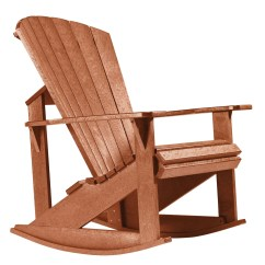 Cedar Rocking Chairs Faux Leather Chair Cushion Generations Adirondack From Cr Plastic