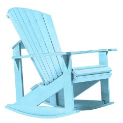 Aqua Adirondack Chairs Iconic Leather Office Chair Generations Rocking From Cr Plastic