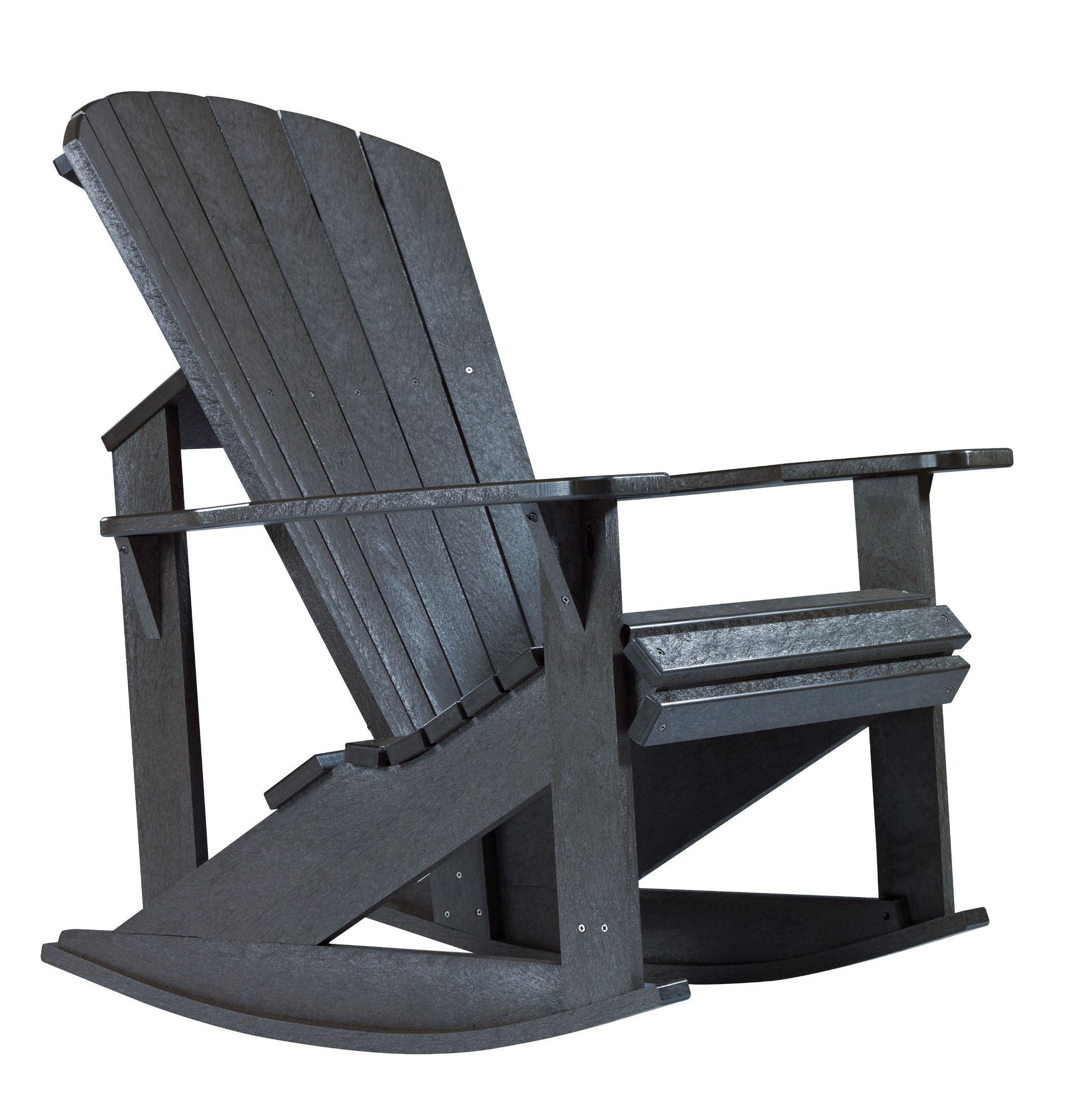coleman rocking chair office back massager generations black adirondack from cr plastic