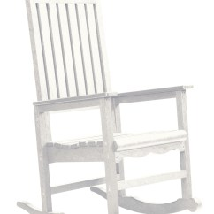 Coleman Rocking Chair Clear Eames Generations White Casual Porch Rocker From Cr Plastic C05