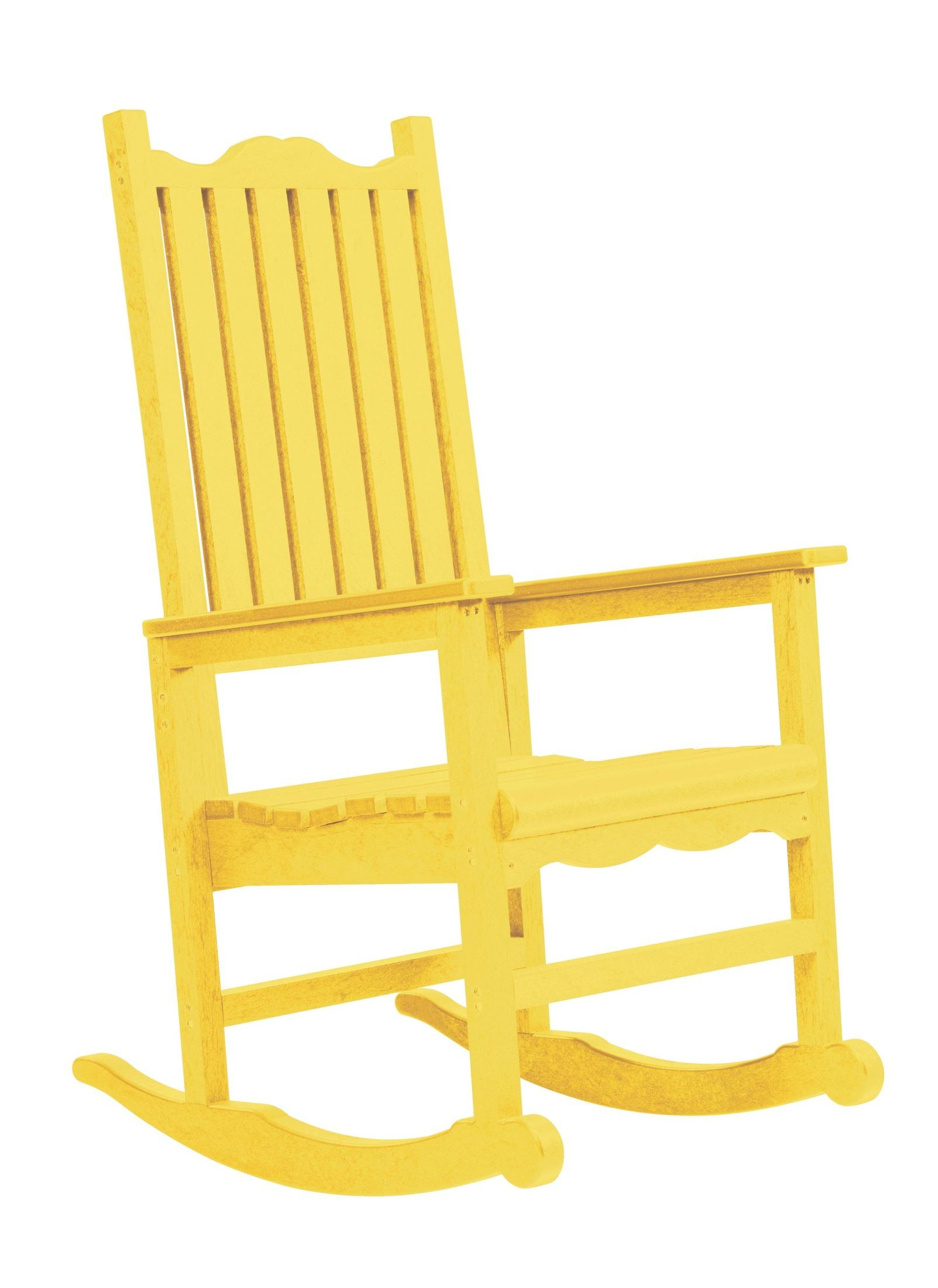 yellow rocking chair grey desk generations casual porch rocker from cr plastic