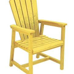 Yellow Adirondack Chairs Plastic Folding Chair Storage Rack Generations Dining Arm From Cr