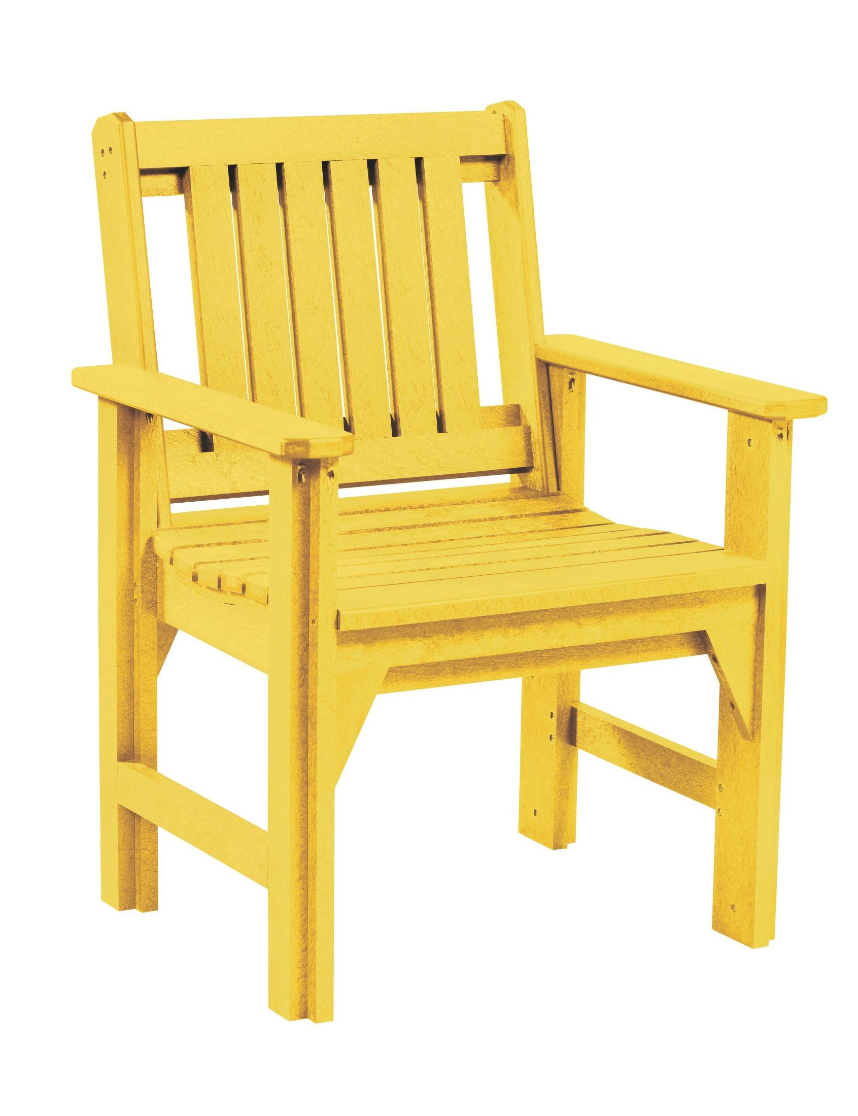 Yellow Dining Chair Generations Yellow Slat Back Dining Arm Chair From Cr