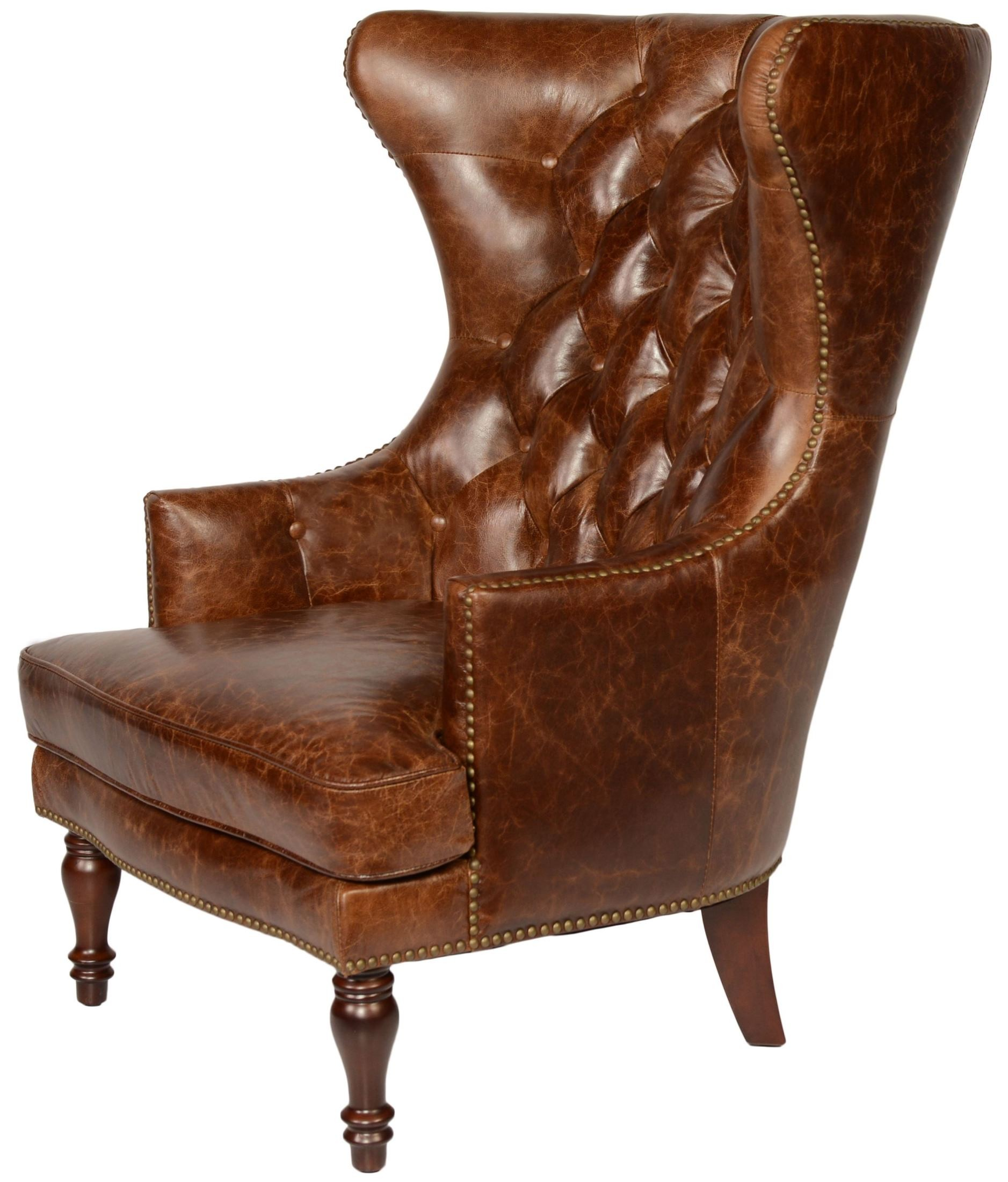 tufted leather wingback chair side end tables sedgefield coco brampton wing back