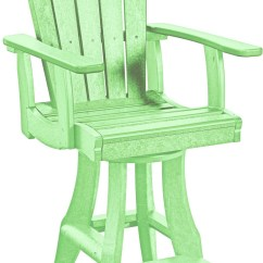 Lime Green Chairs For Sale Resin Wicker Canada Generations Swivel Pub Arm Chair From Cr