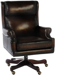 Clinton Black & Tan Leather Office Chair from Lazzaro (WH ...
