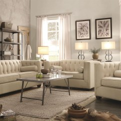 Oatmeal Sofa Set Leather Sectional With Recliner And Bed Cairns From Coaster 504904 Coleman Furniture