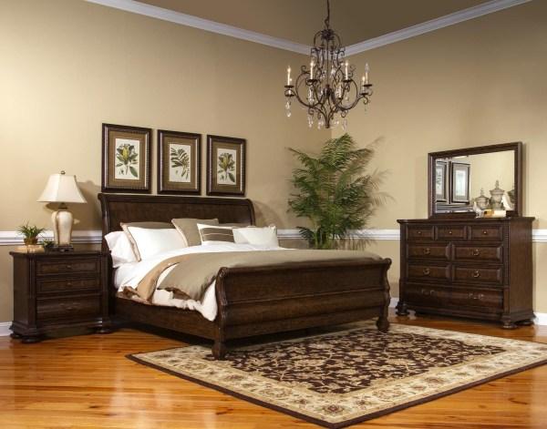 oak sleigh bedroom sets Canyon Creek Vintage Oak Sleigh Bedroom Set from Fairmont