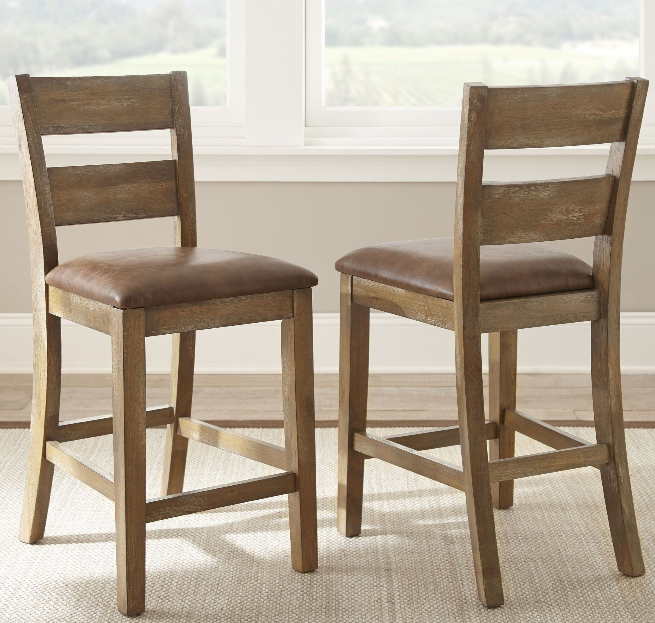 counter height chairs set of 2 chair cover rentals el paso cambrey rustic honey from