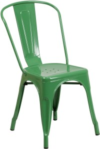 Green Indoor-Outdoor Stackable Chair from Renegade ...