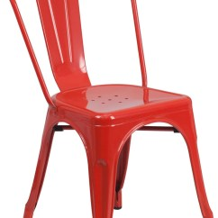 Metal Stacking Chairs Outdoor High Chair Replacement Cover Red Indoor Stackable Ch 31230 Gg