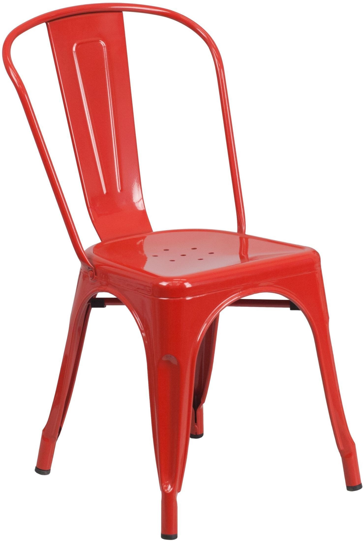 Stackable Lawn Chairs Red Metal Indoor Outdoor Stackable Chair Ch 31230 Red Gg