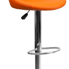 Orange Bucket Chair Captain Seat Covers Rv Vinyl Adjustable Height Bar Stool Min