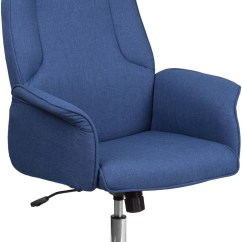 Swivel Office Chair Base Folding Moon Saucer High Back Blue Executive With Chrome
