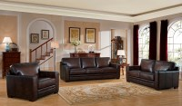 Chatsworth Brown Leather Living Room Set, 9927S2828LS