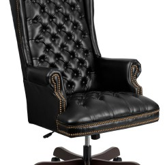 Office Desk Chairs Swing Chair Patricia Urquiola 360 High Back Tufted Black Leather Executive