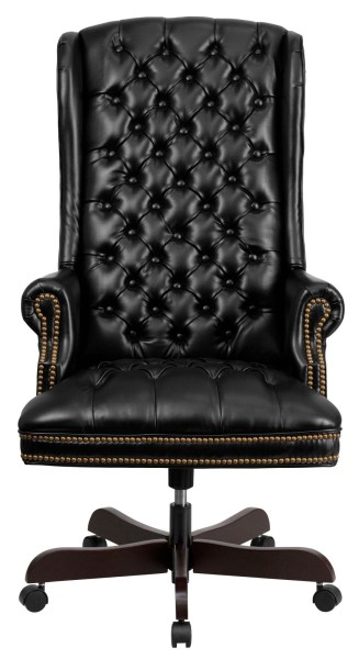 tufted leather executive office chair 360 High Back Tufted Black Leather Executive Office Chair