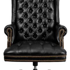 High Back Tufted Chair Poul Jensen Selig Z 360 Black Leather Executive Office