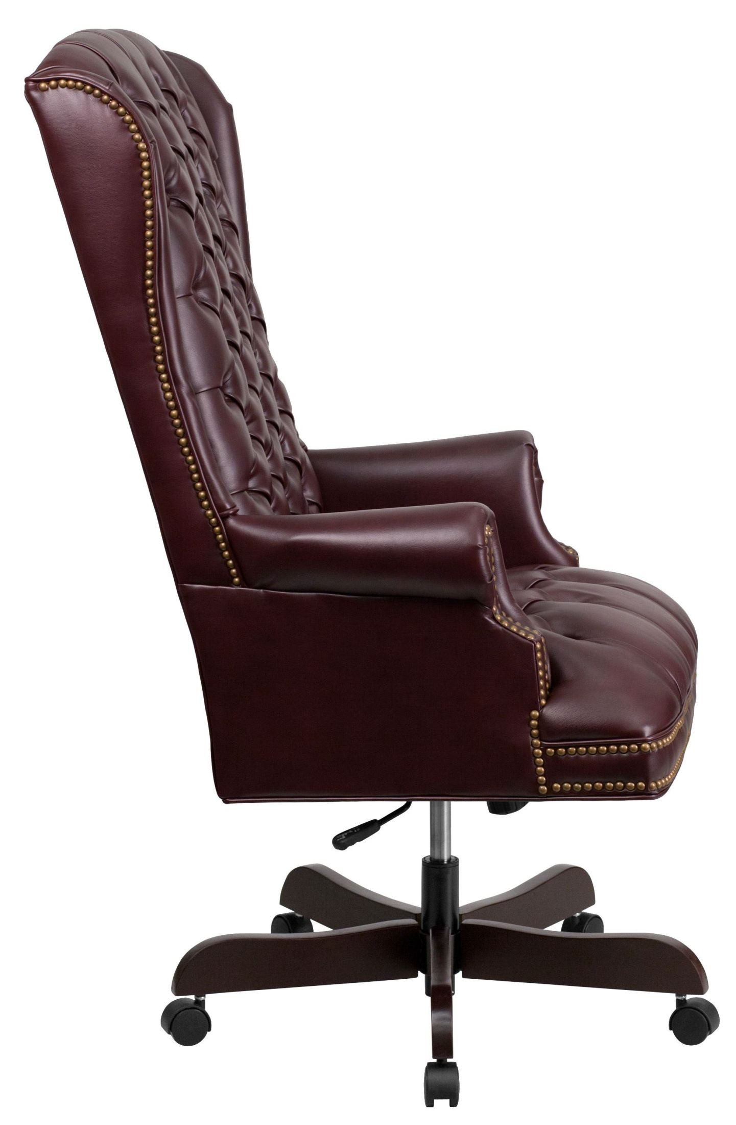 Burgundy Office Chair High Back Tufted Burgundy Executive Office Chair Ci 360