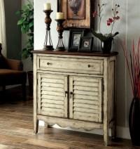 Hazen Antique White and Brown Storage Cabinet from ...