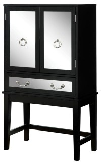 Caris Black Wine Cabinet from Furniture of America ...