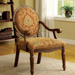 Antique Accent Chair Floating High Hammond Oak Fabric From Furniture Of