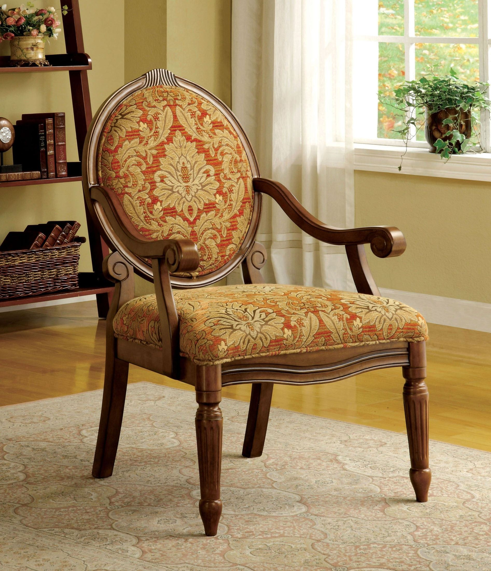 Vintage Accent Chair Hammond Antique Oak Fabric Accent Chair From Furniture Of