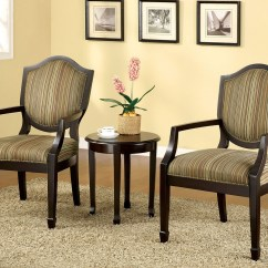 2 Accent Chairs And Table Set Wheelchair Transport Service Bernetta Ii Espresso 3 Piece Chair From