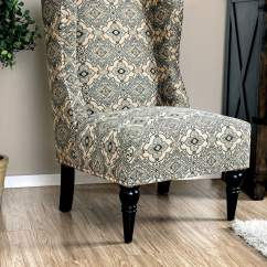 Damask Accent Chair Bohemian Hanging Elche Pattern From Furniture Of