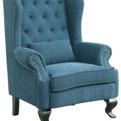 Accent Chair Teal Jesus Has A Rocking Willow From Furniture Of America