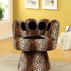 Animal Print Accent Chair Oak Adirondack Chairs Paus Leopard Swivel From Furniture Of