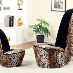 Cheetah Print Heel Chair Lift Prices Heely Leopard Small Accent Cm Ac6807lp S