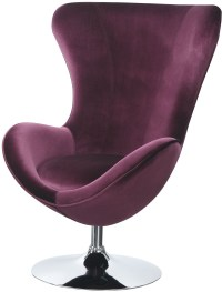 Eloise Purple Accent Chair With Ottoman, CM-AC6841 ...