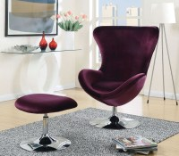 Eloise Purple Accent Chair With Ottoman from Furniture of ...