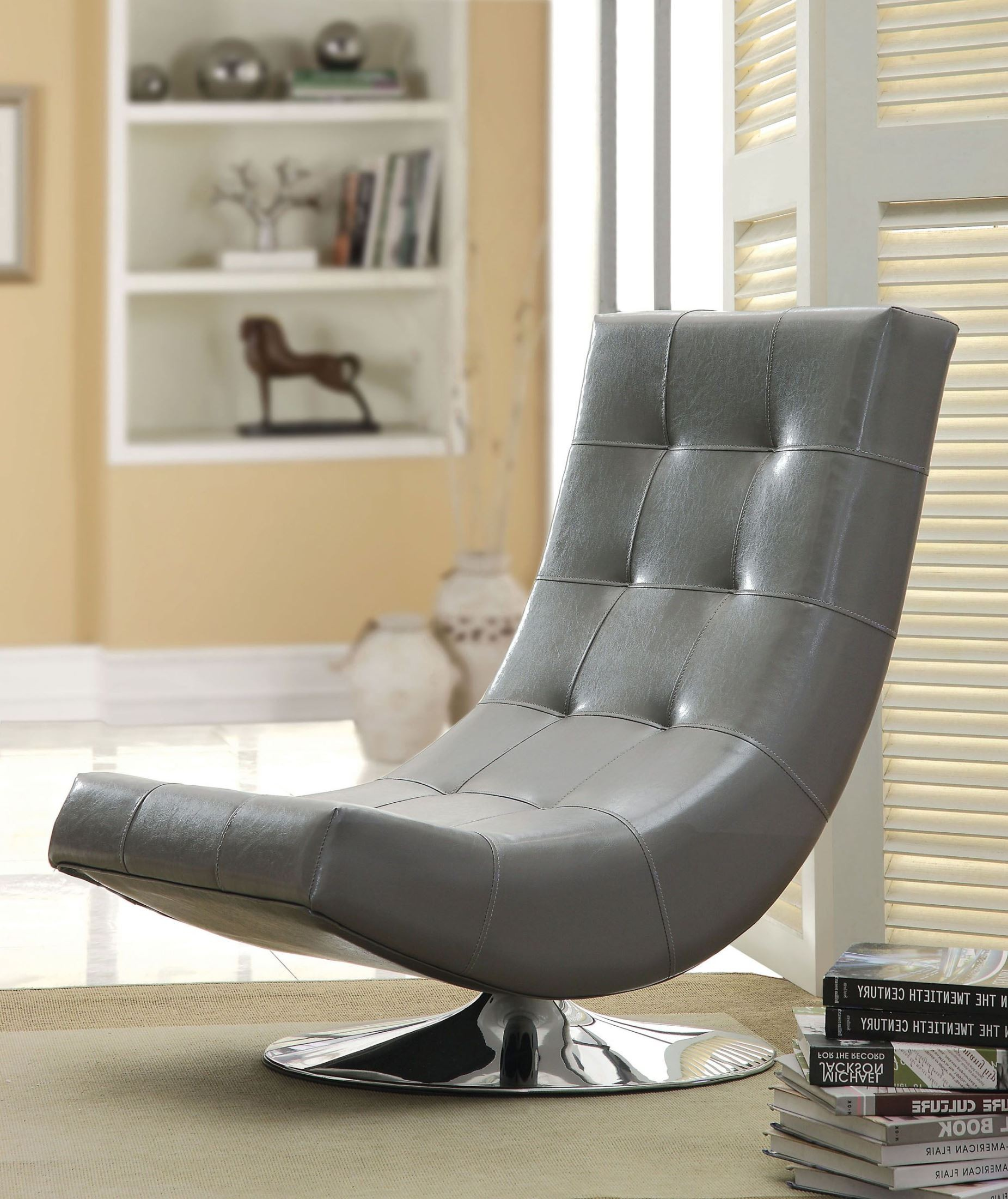 Swivel Accent Chair Trinidad Gray Swivel Accent Chair From Furniture Of