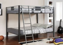 Cletis Silver And Gun Metal Full Over Bunk Bed