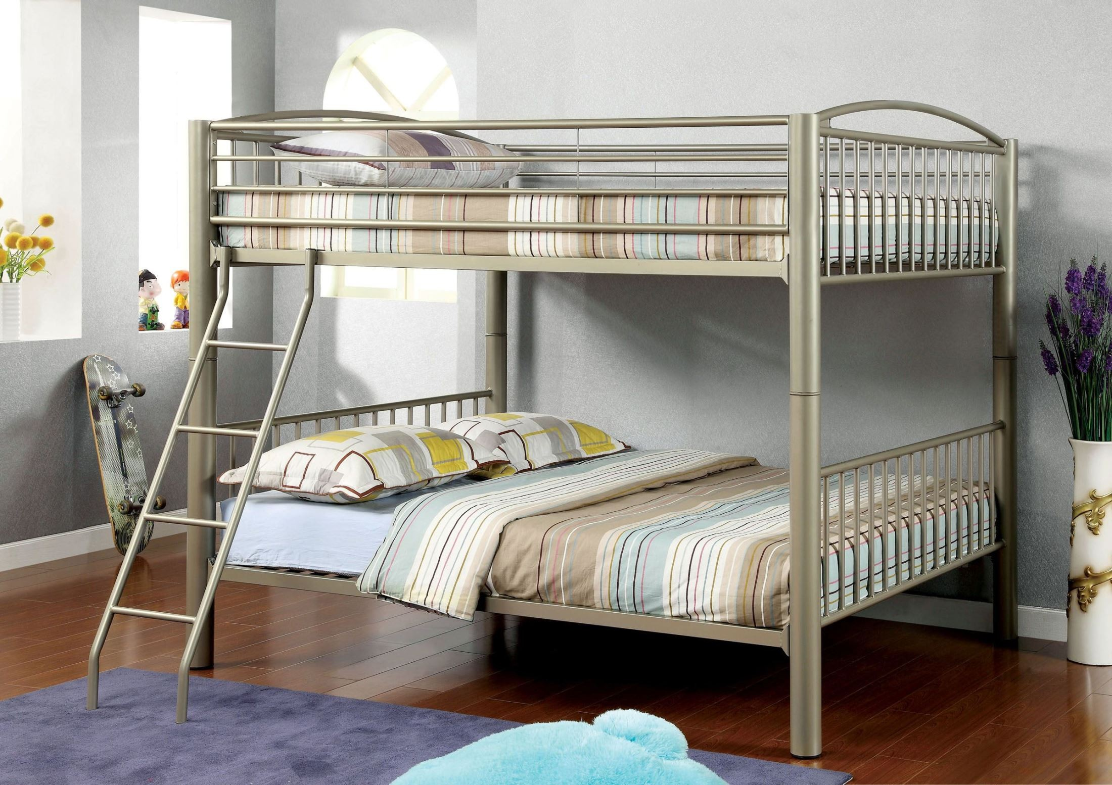 Lovia Full Over Full Metal Bunk Bed From Furniture Of